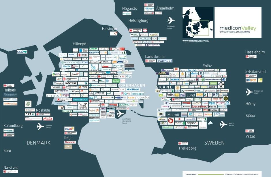 메디콘밸리 지도 (출처 : 메디콘밸리 웹사이트)