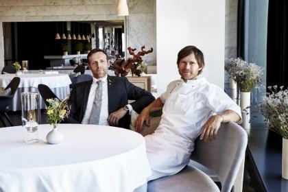 왼쪽부터 쇠런 네드(Søren-Ledet) 와인∙레스토랑 디렉터와 하스무스 코포(Rasmus Kofoed) 공동창업자겸 수석 주방장(사진: 게라니움 제공)