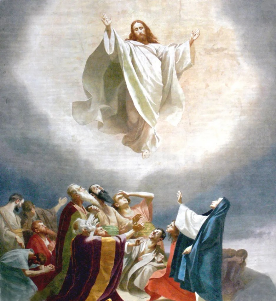 Jesus going to heaven (source: flickr CC BY Waiting for the World)