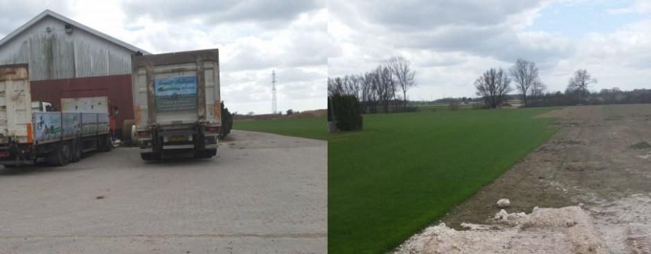 rolling grass, trucks, company
