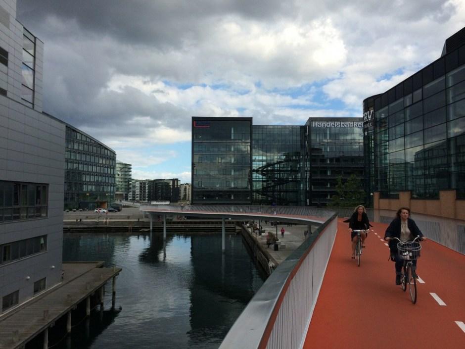 자전거 전용 고가도로 사이켈슬란겐(Cykelslangen) (출처: 플리커 CC BY-SA surelars)