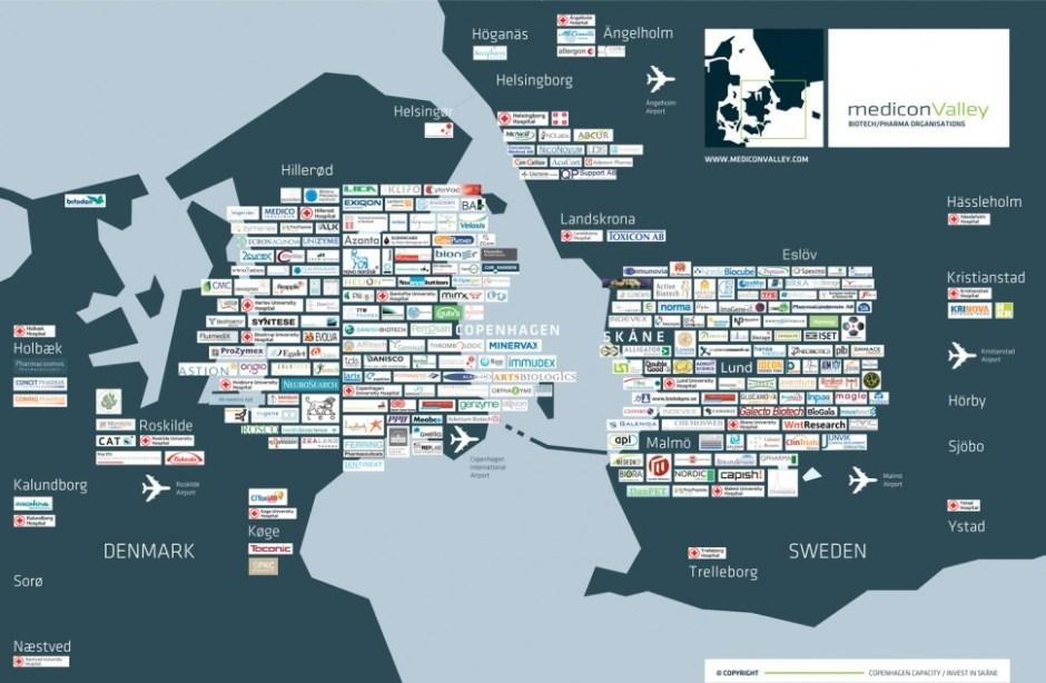 생명과학 분야 메디콘밸리 지도 (메디콘밸리 제공)