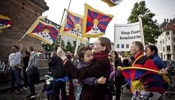 A number of Danes used a Chinese state visit in 2012 to express support for Tibet. (Photo courtesy: thelocal.dk)