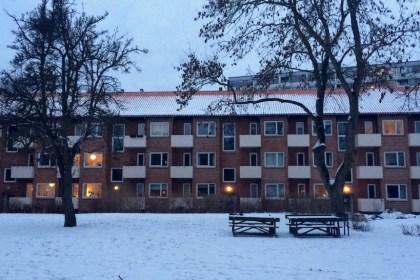 눈 덮인 덴마크 아파트 (사진: 안상욱)