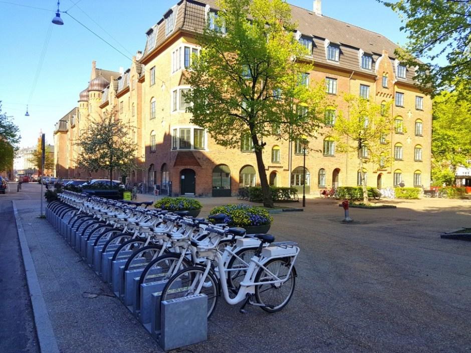 주차된 코펜하겐 공유 자전거 고바이크 (Bycyklen 제공)