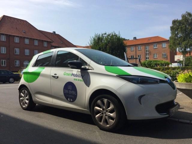 덴마크 공유 전기차 그린모빌리티(Green Mobility) (사진: 안상욱)