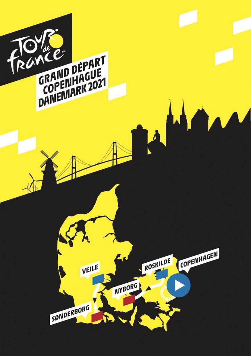 덴마크 코펜하겐에서 출발하는 2021년 투르 드 프랑스 덴마크 경기 구간(투르 드 프랑스 제공)