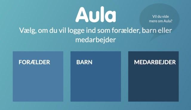 2019년 도입한 덴마크 폐쇄형 교육 포털 아우라(Aula)