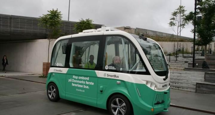 덴마크 최초 무인 버스 올보르에서 운행 시작