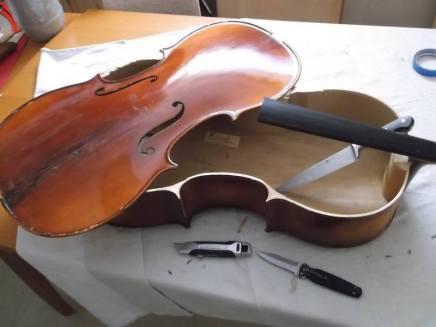 framus cello 1 remove top
