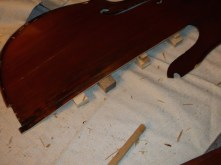 framus cello 11 support before clamping