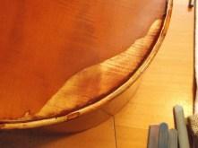 framus cello 15 exposing damaged finish on back