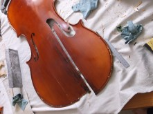 framus cello 2 remove poorly repaired section