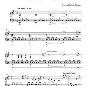 """Footprints"" Solo Piano Sheet Music (from the Naked Piano Elements)"