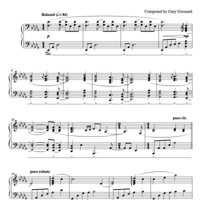 """Herald of the Morning"" Solo Piano Sheet Music (from the Naked Piano Light & Dark)"
