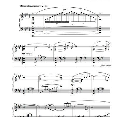 """Serenity"" Solo Piano Sheet Music (from The Naked Piano Transitions)"