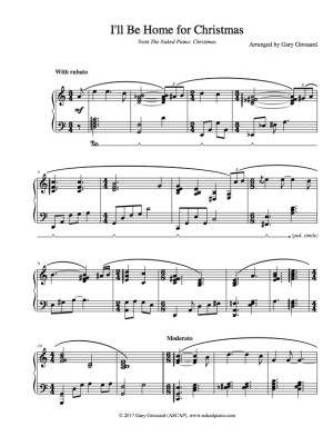Ill Be Home For Christmas Sheet Music.I Ll Be Home For Christmas Solo Piano Sheet Music From The Naked Piano Christmas