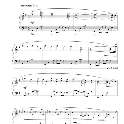 """Trilogy"" (original version) Solo Piano sheet music (from The Naked Piano)"