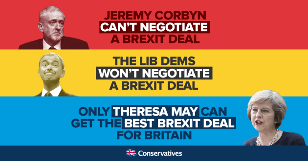 Brexit negotiations cant wont will 22 May 2017 Tories