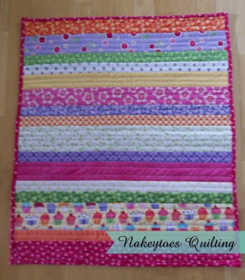 American Girl Doll Quilt all finished