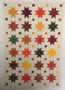 Autumn Stars quilt using the MSQC tutorial