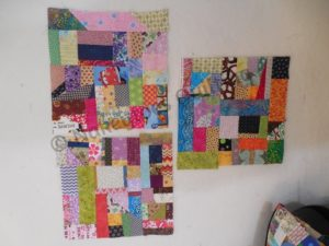 Crumb quilt block using the Missouri Star Quilt Company tutorial from Nakeytoes Quilting