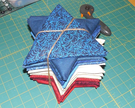 Red White & Blue fabric bundle for Texas 9 patch quilt