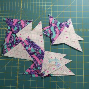 pairs of quarter square triangles