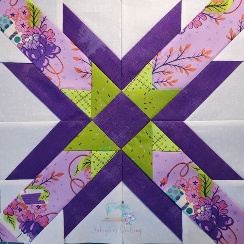Completed A Triple Star block from Nakeytoes Quilting