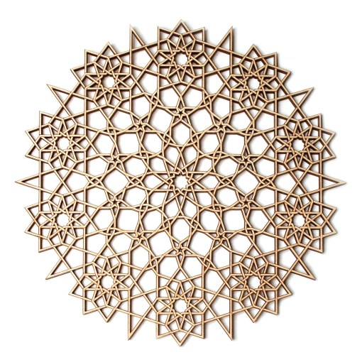 wooden doily