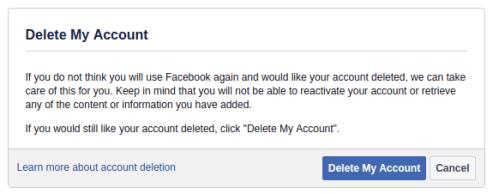 كيفية حذف حساب فيسبوك بشكل نهائي
