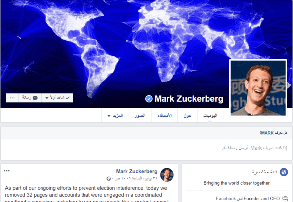 Mark Zuckerberg Profile