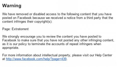 لقد أزلنا المحتوى التالي الذي نشرته على فيسبوك أو عطلنا صلاحية الوصول إليه لأننا تلقينا إشعارًا من جهة خارجية يفيد بأن المحتوى ينتهك حقوق النشر الخاصة بها: