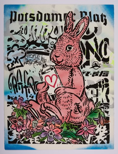 "Aiko, ""Bunny,"" spray paint"