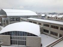 雪の日の那珂川北中学校