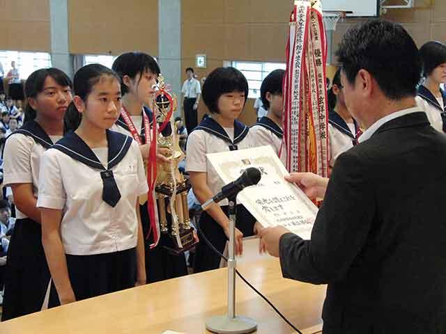 那珂川北中学校、部活顕彰