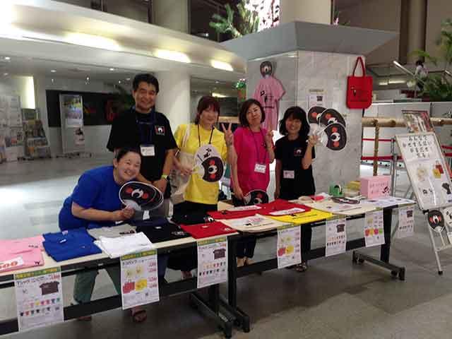 那珂川北中学校、復興支援グッズ販売