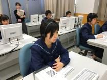 那珂川北中学校 全国学力学習状況調査の様子