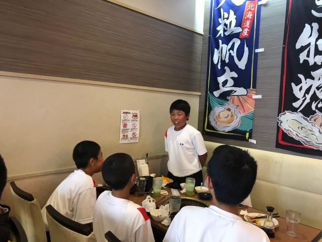 那珂川北中学校 野球部歓迎会