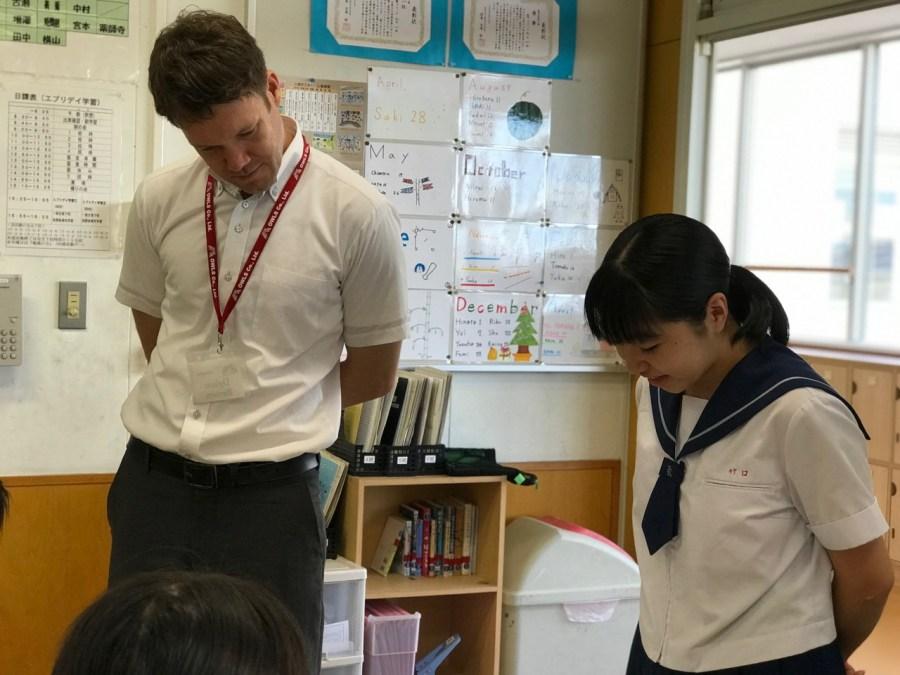 那珂川北中学校 研究授業の様子