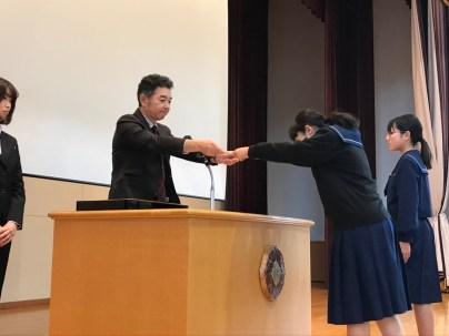 那珂川北中学校 3学期始業式