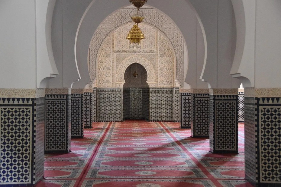 The inside view of a beautiful Masjid