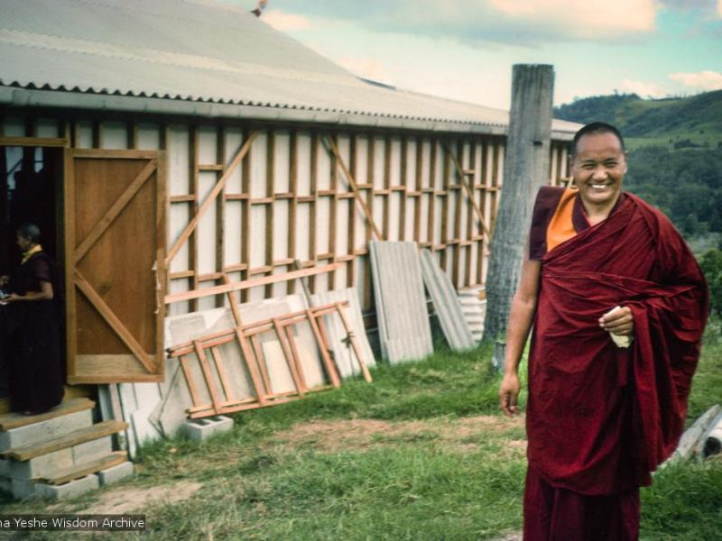 Lama Yeshe all'Chenrezig Institute, Australia, 1975