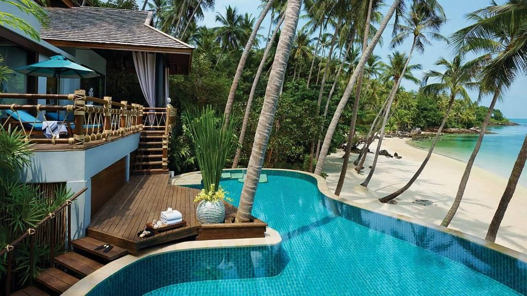 Luxus přímo na pláži (Four Seasons Koh Samui)