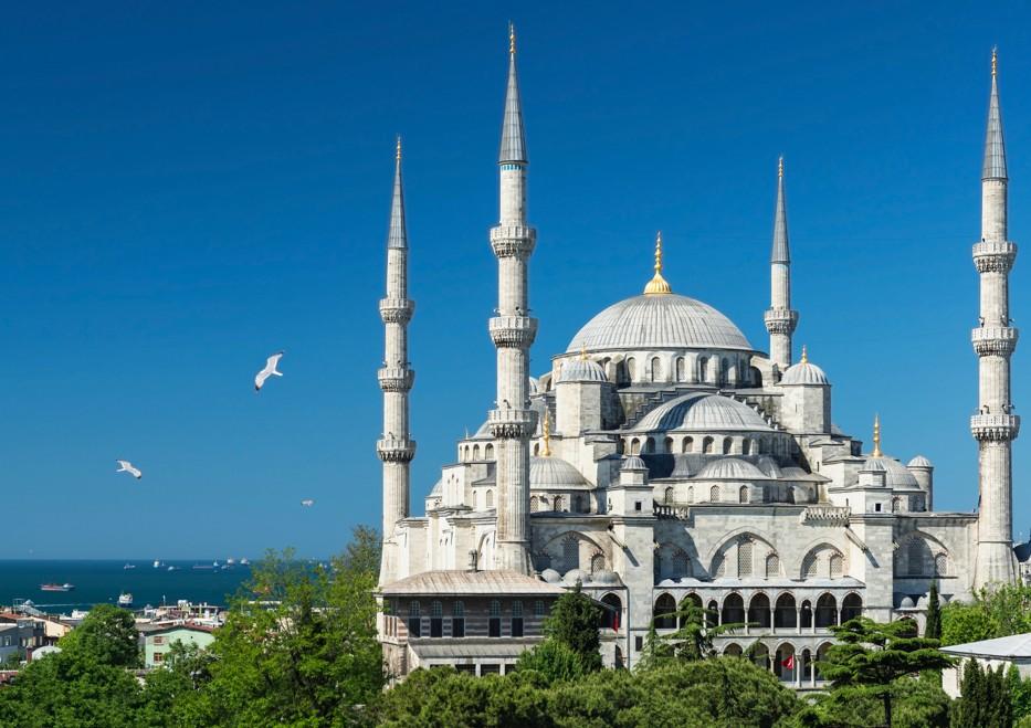 Mešita sultána Ahmeda - modrá mešita, Istanbul, Turecko