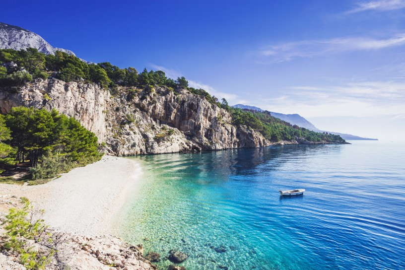 Nugal beach near Makarska town, Dalmatia, Croatia
