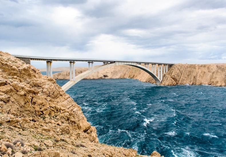 most na Pag,Chorvatsko