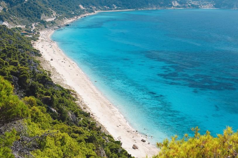 Pefkoulia beach, Lefkáda, Řecko