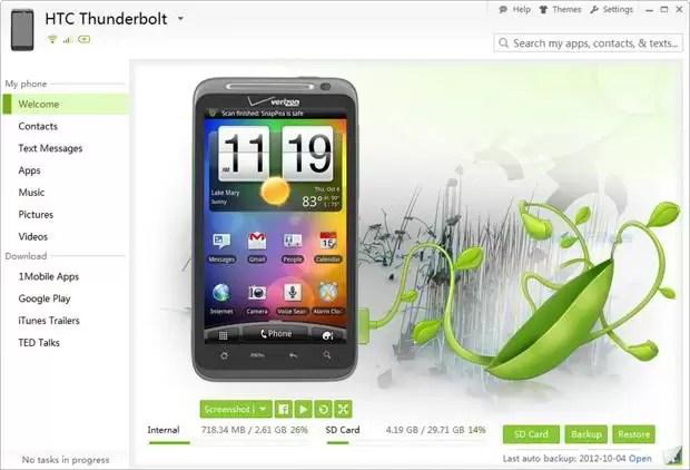 SnapPea : Gérez votre apparareil android depuis votre PC - Nalaweb