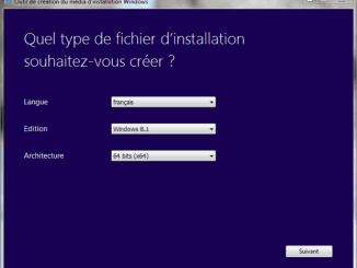telecharger les iso de windows 8.1 avec media creation tool